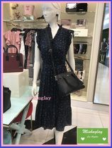【kate spade】繊細な小花柄♪ wild roses ruffle wrap dress★