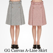 18-19AW★Gucci GG Canvas A-Line Skirt 2色 関税/送料込