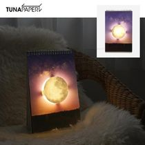 TUNAPAPER★PAGE BY PAGE LAMP - SPACE ページめくりLED照明