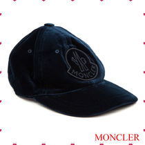 ★MONCLERモンクレール★ロゴベルベットキャップ