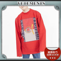 SALE!!送料込≪VETEMENTS≫ Tommy ロゴプリントカットソー