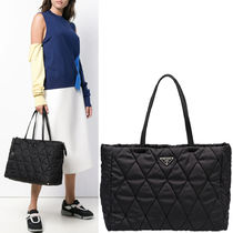 PR1385 QUILTED NYLON TOTE BAG