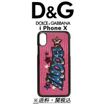 D&G Embellished appliqued croc-effect leather iPhone Xケース
