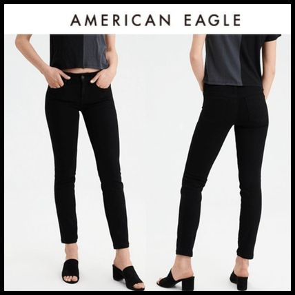 American Eagle Outfitters デニム・ジーパン ☆American Eagle Outfitters☆ スキニーブラックパンツ