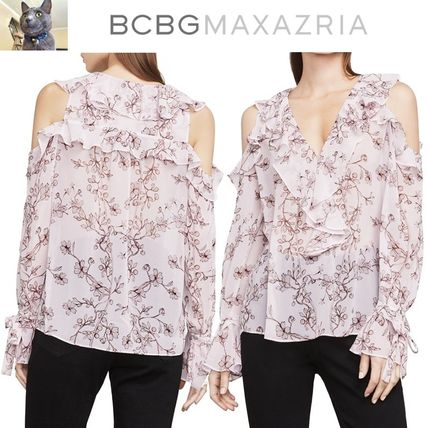 【BCBGMAXAZRIA】Laurenne Cold-Shoulder トップス