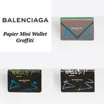 ◆BALENCIAGA◆Papier Mini Wallet Graffiti 大人気ミニ財布