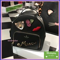 【kate spade】復刻★キラキラバックパック♪ leopard tomi★