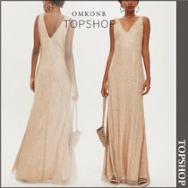 【国内発送・関税込】TOPSHOP★Gold Glitter MaxiDress by WYLDR