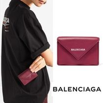 BALENCIAGA Textured-leather wallet Violet Prune 関税送料込