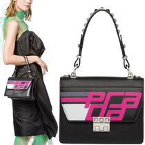 PR1417 LOGO PRINTED ELEKTRA SHOULDER BAG