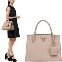 PR1418 PRADA MONOCHROME SAFFIANO LEATHER LARGE BAG