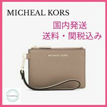 MICHAEL KORS Mercer Color-Block Pebbled Leather Coin Purse