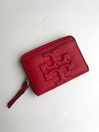 Tory Burch カードケース・名刺入れ 即発 TORY BURCH★BOMBE ZIP COIN CASE キーリング付き(3)
