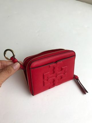 Tory Burch カードケース・名刺入れ 即発 TORY BURCH★BOMBE ZIP COIN CASE キーリング付き(6)