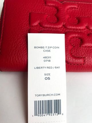 Tory Burch カードケース・名刺入れ 即発 TORY BURCH★BOMBE ZIP COIN CASE キーリング付き(7)