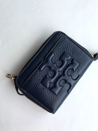 Tory Burch カードケース・名刺入れ 即発 TORY BURCH★BOMBE ZIP COIN CASE キーリング付き(11)