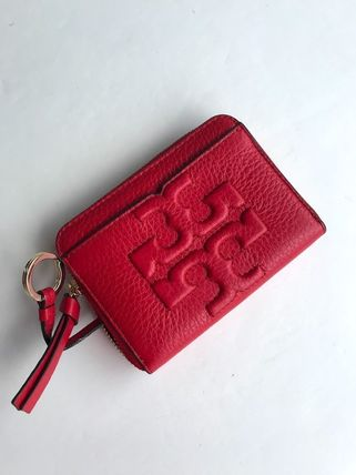 Tory Burch カードケース・名刺入れ 即発 TORY BURCH★BOMBE ZIP COIN CASE キーリング付き(12)