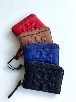 Tory Burch カードケース・名刺入れ 即発 TORY BURCH★BOMBE ZIP COIN CASE キーリング付き