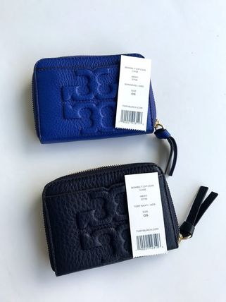 Tory Burch カードケース・名刺入れ 即発 TORY BURCH★BOMBE ZIP COIN CASE キーリング付き(15)
