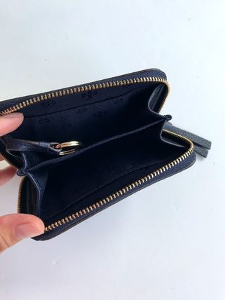 Tory Burch カードケース・名刺入れ 即発 TORY BURCH★BOMBE ZIP COIN CASE キーリング付き(16)