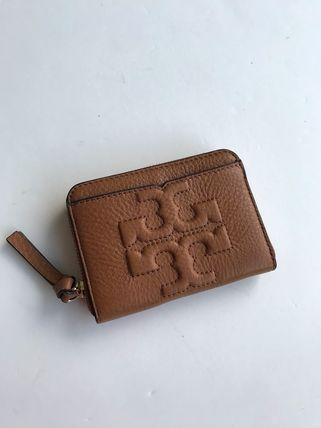 Tory Burch カードケース・名刺入れ 即発 TORY BURCH★BOMBE ZIP COIN CASE キーリング付き(17)