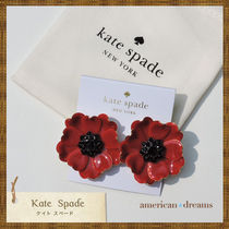 SALE! kate spade 可愛いお花モチーフピアス RED