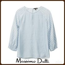 MassimoDutti♪STRIPED SHIRT WITH SLITS