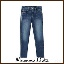 MassimoDutti♪SLIM CROPPED FIT JEANS WITH SIDE STRIPES