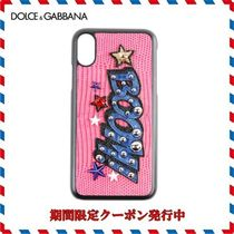 18AW新作◆Dolce & Gabbana◆ピンクレザー Iphone X Cover