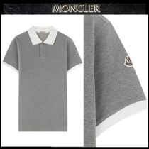 【MONCLER】18SS 襟配色 ポロシャツ GRAY/安心追跡付