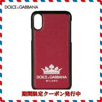 18AW新作◆Dolce & Gabbana◆レッドロゴレザー Iphone X Cover