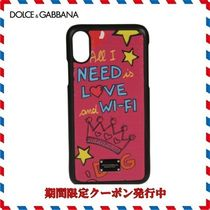 18AW新作◆Dolce & Gabbana◆レッドプリント Iphone X Case