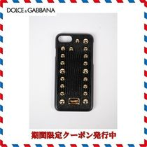 18AW新作◆Dolce & Gabbana◆レザー Iphone 7/8 Plus Cover