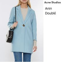 ACNE Anin Double Single Breast Coat カシミヤ混ウールコート