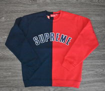 【AW18】Supreme(シュプリーム)SPLIT CREWNECK SWEATSHIRTS/NAVY