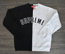 【AW18】Supreme(シュプリーム)SPLIT CREWNECK SWEATSHIRT/BLACK