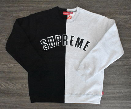 Supreme スウェット・トレーナー 【AW18】Supreme(シュプリーム)SPLIT CREWNECK SWEATSHIRT/BLACK