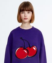 ★KIRSH★ BIG CHERRY SWEATSHIRT HA [PURPLE]