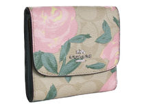 COACH Floral Print Logo Small Wallet F25930