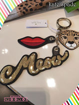 kate spade★Leather Leopard Novelty Mix Keychain★チャーム