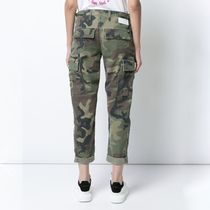 RE DONE(リダン) パンツ RE/DONE(リダン) camouflage print cropped trousers