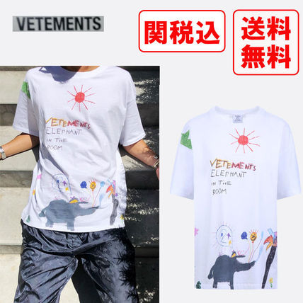 関税・送料込 VETEMENTS Elephant Red Sun Tシャツ