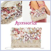 Accessorize☆Lucca☆3Dフラワー!ジップトップ クラッチ