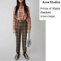 ACNE Prince of Wales check pantsウェールズチェックトラウザー