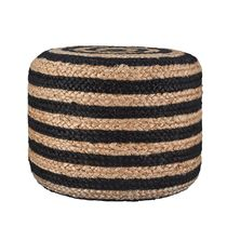 【House Doctor】北欧 デンマーク☆pouf jute Black-nature