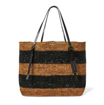 Raffia Striped Lennox Tote