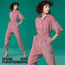 セール!DVF Short-Sleeve Pocket Jumpsuit★ジャンプスーツ