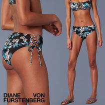 ボトム単品★DVF WEST Lace-Up Cheeky Mid-Rise Bikini Bottom
