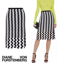 セール!DVF Laser-cut intarsia-knit merino wool skirt完売寸前