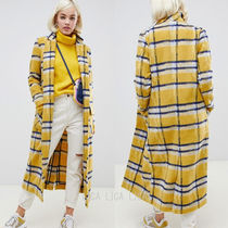 国内発送ASOS/Glamorous longline coat in bright check